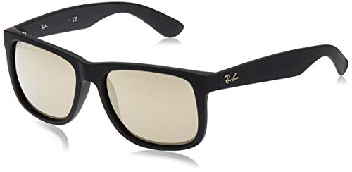 Ray-Ban MOD. 4165 Occhiali da Sole Unisex, Nero ( Brown/Orange), 54 mm