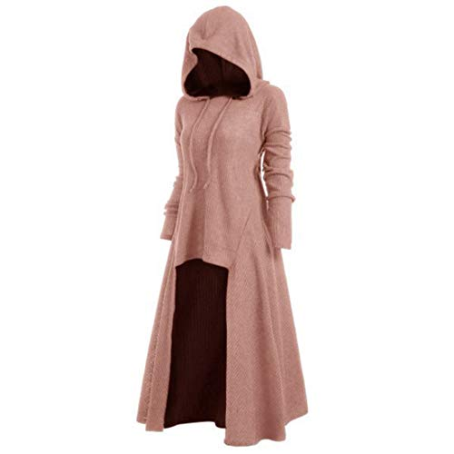 Z&Y Glaa Damen Lose Umhang mit Kapuze Mantel Poncho Kap Winter Herbst Gotisch Outwear Longstrickjacke Karneval Halloween Cosplay Party Ballkleid Damen Mode Langarm Mit Kapuze Mittelalterliches