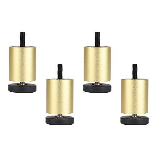 Patas Ajustables de Aleación de Aluminio para Muebles,Patas de Sofá de Varilla Roscada M8 de Oro Mate,para Mesa de Centro/Gabinete de Baño/Refrigerador/Lavadora,Juego de 4 (6cm/2.4in)