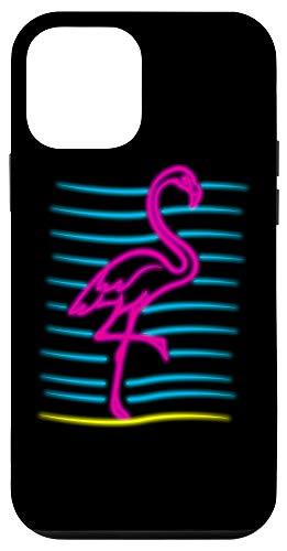 iPhone 12 mini 80's Retro Pink Flamingo Bird | Bird Lover Gift Case