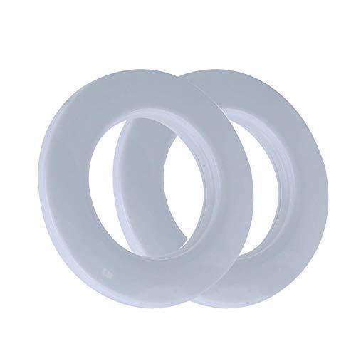 42mm Plástico Ojales Arandelas CON ARANDELAS para Cortinas, cortinas o Lonas por Trimming Shop - Blanco, Large, L