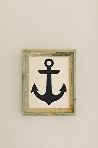 Cartel colgante de bienvenida con marco de madera de granero enmarcado para decoración del hogar, regalo, regalo de inauguración de la casa, marco gris envejecido, decoración de pared de casa rústica