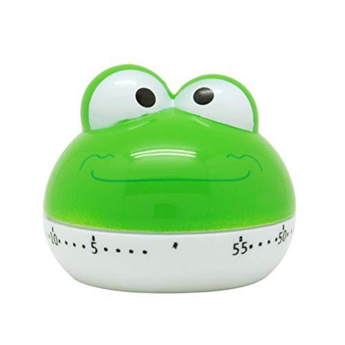 NUOBESTY Küchentimer Eieruhr Kunststoff Cartoon Frosch Tier Timer Küchenhilfe für Küche Backen Braten Kochen - Grün