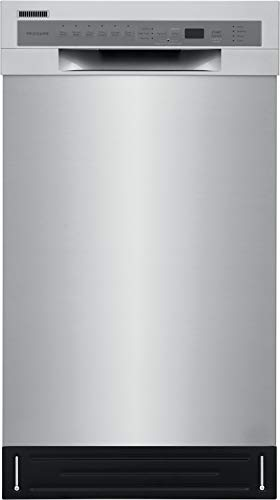 Frigidaire 18 in. ADA Compact Front Control Dishwasher in Stainless Steel with Dual Spray Arms, 52 dBA, includes room-of-choice delivery
