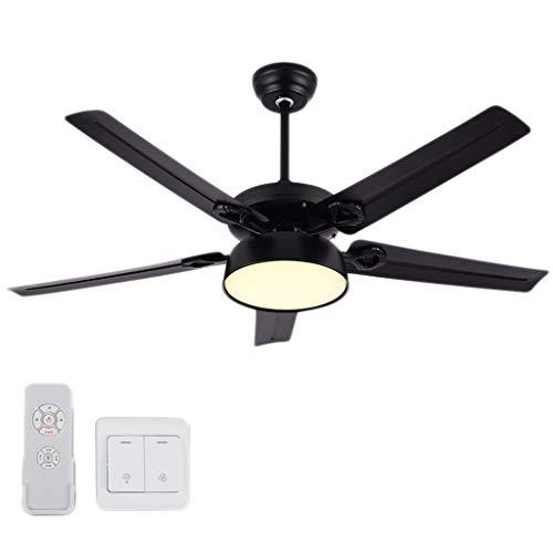 Luz del ventilador Techo 130 cm Sala de Estar Dormitorio Comedor Techo Velocidad Ajustable Techo Regulable (Color : C)