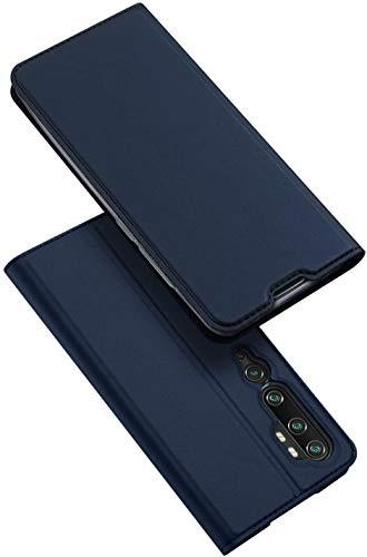 DUX DUCIS Xiaomi Mi Note 10 Hülle, Xiaomi Mi Note 10 Pro Hülle, Leder Klappbar Handyhülle Schutzhülle Tasche Hülle mit [Kartenfach] [Standfunktion] [Magnetisch] (Blau)