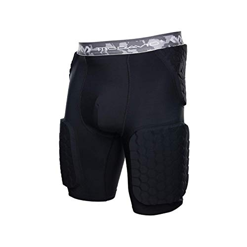 McDavid Padded Compression Shorts with HEX Pads. Dual-Density Thudd Tights with Hip, Tailbone, Thigh Padding. for Men and Women. with Cup Pocket.