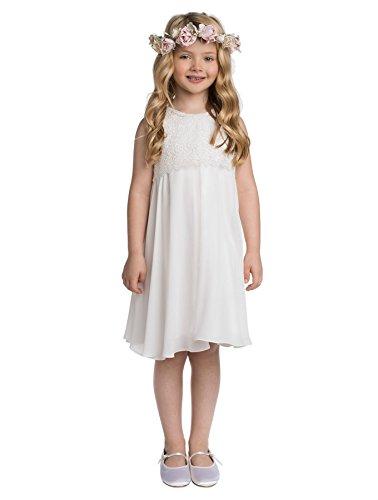 Paisley of London, Tilly - Vestido de niña de flores, vestido de ocasión para niños, ropa formal para fiestas de niñas, traje de desfile infantil con capa de encaje, 2 – 9 años