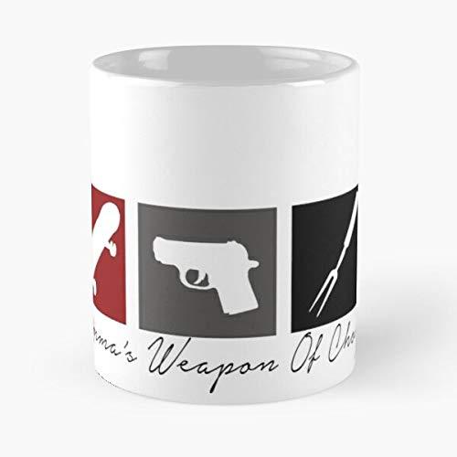 SOA Tv Power Own Sons Show Women of Gemma Teller Mother Weapon Protect Her Anarchy Best 11 oz Kaffeebecher - Nespresso Tassen Kaffee Motive