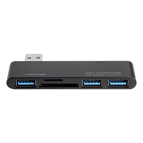 Youmine USB 3.0 Cavo di Estensione HUB Carica HUB Converter Dock 3 USB 3.0 TF Card Reader Splitter per Computer PC