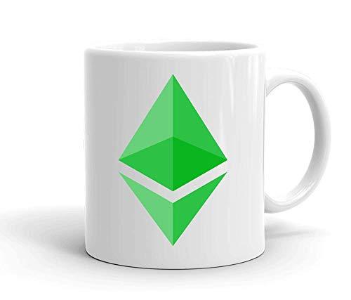 IDcommerce ETH Green Logo Tasse en Céramique Blanche pour Le Thé Et Le Café