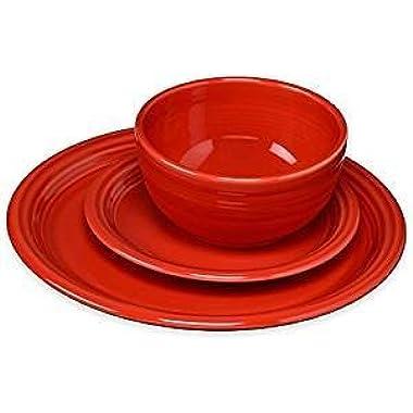 Fiesta 326-1482 3 Piece Bistro Set, Scarlet