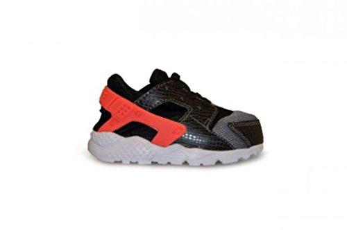 Nike Unisex Baby Huarache Run (TD) Sneaker, Schwarz/Orange/Grau/Weiß (Schwarz/Brght Hochrot-Cl Gry-Wht), 26 EU