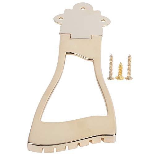 Bridge Tailpiece, Metal Bridge Tailpiece Golden do Hollow Jazz Archtop Guitar Instrument muzyczny Upgrade akcesoria