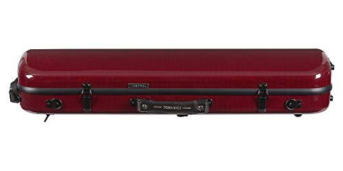 red violin with cases Tonareli Violin Oblong Fiberglass Case- Red Graphite Special Edition VNFO 1018 4/4