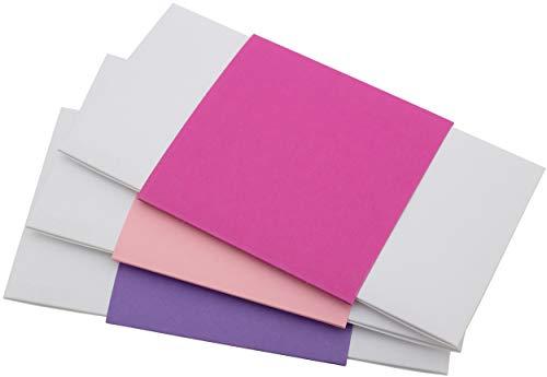 Geschenkumschlag, 23 x 12 cm, 3 Stück | Geldgeschenk Gutschein Verpackung Weihnachten | Glückwunschkuvert Geburtstag (Rosa, Pink, Lila #1)