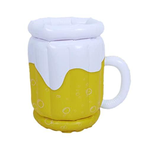 perfk Artículos para Fiestas de Cerveza Y Decoraciones Temáticas de Cerveza: Enfriador de Jarras de Cerveza, Cubo de Hielo Inflable