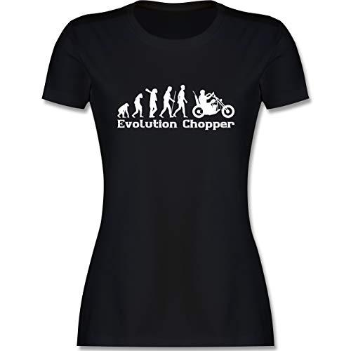 Evolution - Evolution Chopper - S - Schwarz - Tshirt Damen lila - L191 - Tailliertes Tshirt für Damen und Frauen T-Shirt