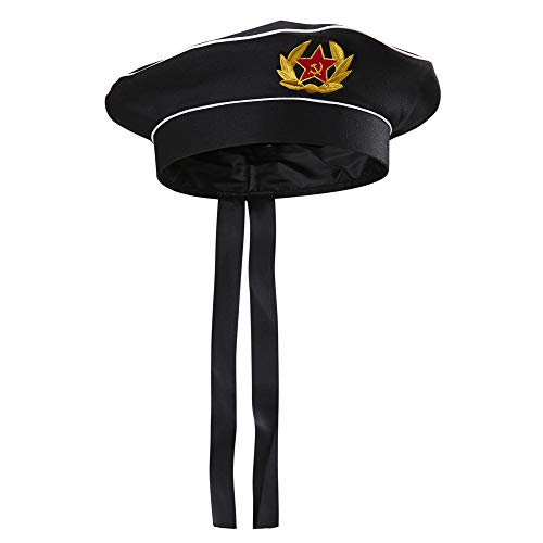 Widmann 02428 Russischer Marinehut für Erwachsene, schwarz