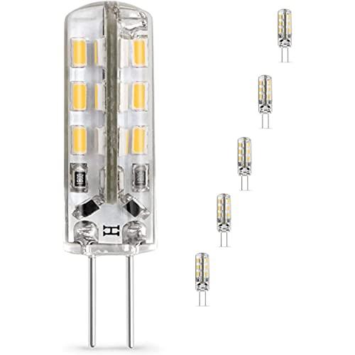 Pack de 5 Ampoules LED G4 12V Spot Équivalent à 15W halogène blanc neutre pour hotte lustre salle de bain meubles camping car Idéale pour un éclairage doux harmonieux paisible et confortable