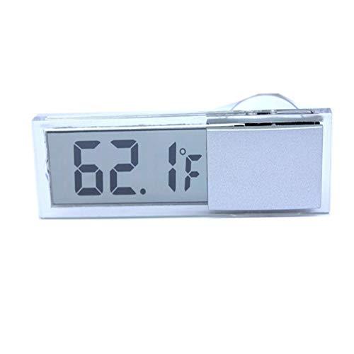 Sukisuki Mini LCD Digital Temperaturmesser Indoor Outdoor Saugnapf Thermometer für Auto