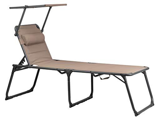Portal Outdoors XL Portal Outdoor Kevin XXL-Silla Acolchada para Camping y jardín, Color marrón, Grande