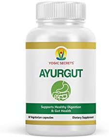 Yogic Secrets AyurGut Supports Healthy Digestion Gut Health Prevents Digestive Disorders As product image
