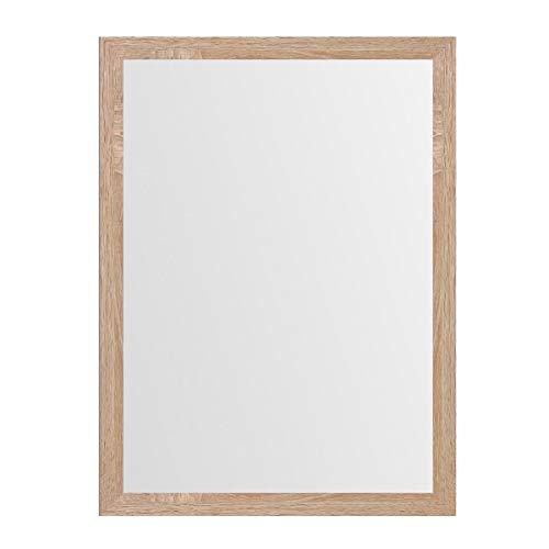 LOLAhome Espejo de Pared de Madera MDF nórdico de 56 x 76 cm para decoración (Beige)