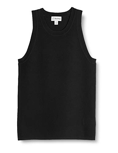 The Drop Women's Gina Fitted Sleeveless High Neck Cut-In Sweater Tank