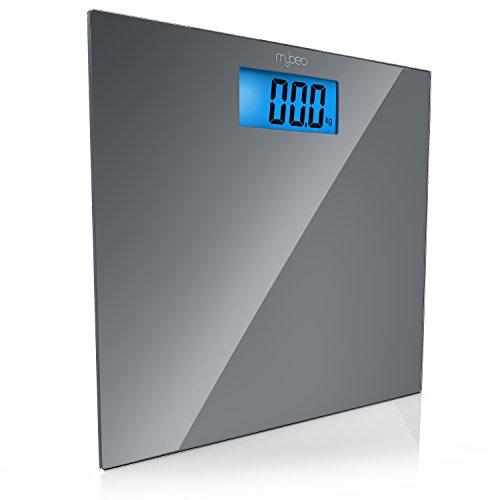 MyBeo -  Báscula Corporal de Baño -  digitales -  Kg,  lb,  st -  capacidad 150 kg -  4x sensores de medición DMS -  Pantalla LCD de 3, 5