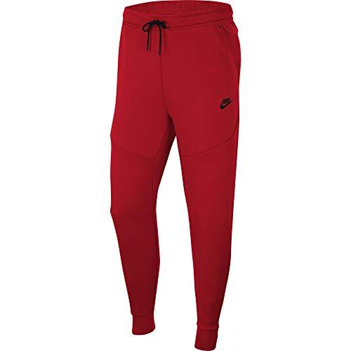 Nike Tech - Chaqueta de forro polar (talla XL), color rojo