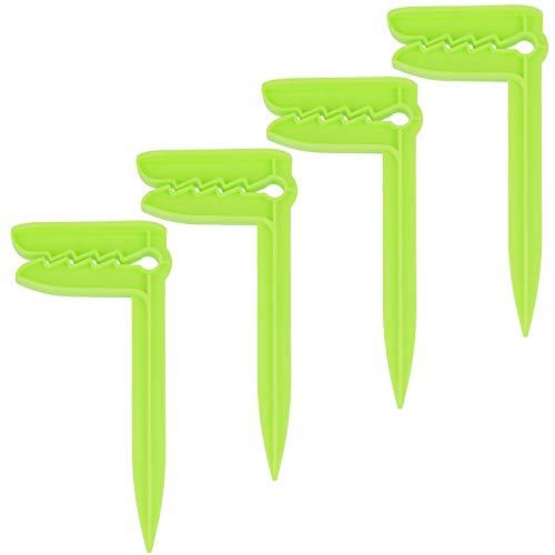 com-four® 4X Clips para Toallas de Playa - Pinzas para Sujetar Toallas - Ideal para la Playa, Viajar, Acampar y más (04 Piezas - Arenque/Verde)