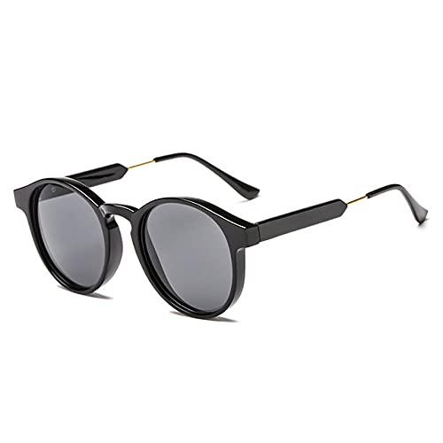 LOPIXUO Gafas de sol Gafas de sol redondas Hombres Mujeres Unisex Retro Diseño vintage Gafas de sol pequeñas para hombres Gafas de sol de conducción Señoras Sombras, como en la imagen