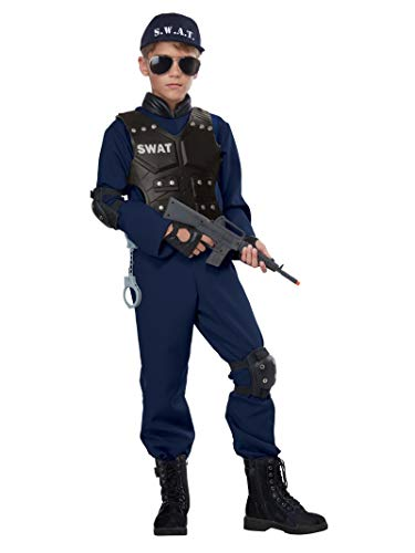 California Costumes Junior Swat Child Costume, Navy, Medium