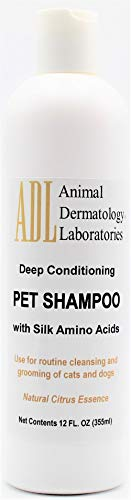 Animal Dermatology Laboratories ADL Deep Conditioning Pet Shampoo Bath with Silk Amino Acids for Routine Cleansing, Bathing and Grooming of Cats and Dogs