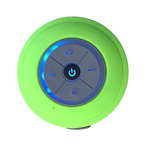 prasku Duschradio IPX4 Wasserdicht Kinder USB LED Bluetooth Lautsprecher Mini Tragbarer Beleuchteter Musikbox (FM Radio AUX-in Mikro-SD und TF Karte)- Grün