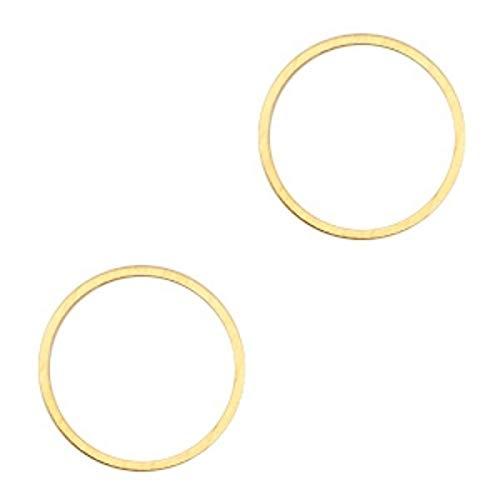 Sadingo sieradenverbinding, hanger cirkel van DQ metaal, Karma metalen ring levenskreis - 2 stuks - 15 mm - armband