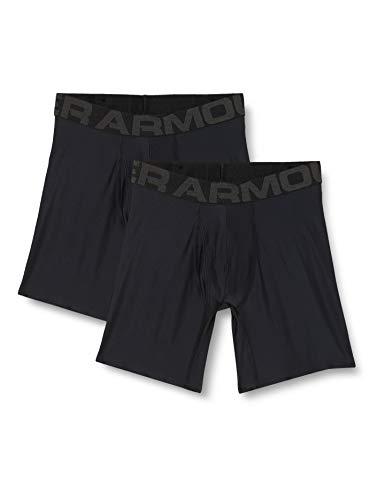 Under Armour Men's Tech 6-inch Boxerjock 2-Pack , Black (001)/Black, Large
