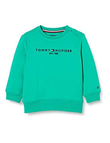 Tommy Hilfiger Jungen Essential Cn Sweatshirt Pullover, Green, 92