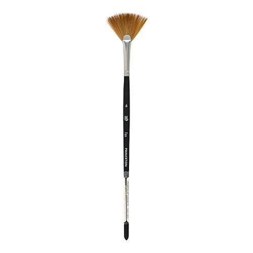 Princeton Elite NextGen Artist Brush, Series 4850 Synthetic Kolinsky Sable for Watercolor, Fan, Size 4
