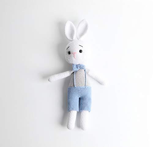 Häkel-Puppe - Woll-Puppe - Babygeschenk - Hasi - Höhe 35 cm