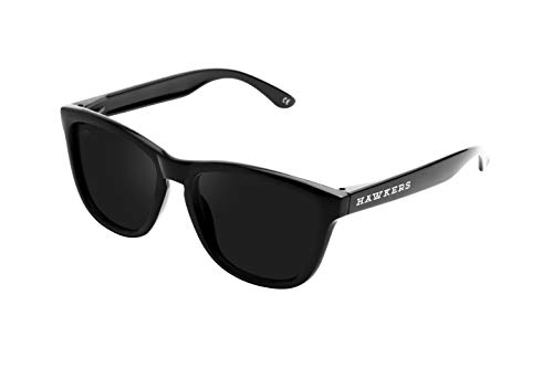 HAWKERS Gafas de Sol ONE Diamond Black, para Hombre y Mujer, con Montura Negra Brillante y Lente Oscura, Protección UV400