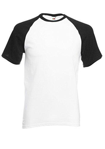 Plain Gildan Cotton Blank Oversized Tshirt T-Shirt Black/White Men Women Unisex Shirt Sleeve Baseball T Shirt-L