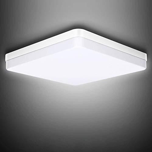 LED Bathroom Ceiling Light 36W 3240LM Cold White 6500K Modern Square Ceiling Lights Home Fixture Waterproof IP45 for Living Room Kitchen Bathroom Bedroom Hallway