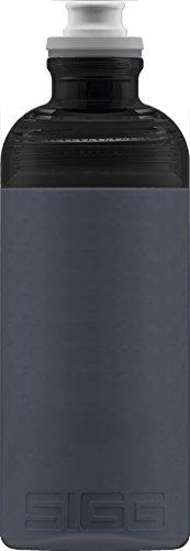 Sigg Hero Anthracite, Sport Trinkflasche, 0.5 L, Squeezable, Polypropylen, BPA frei, Dunkel Grau