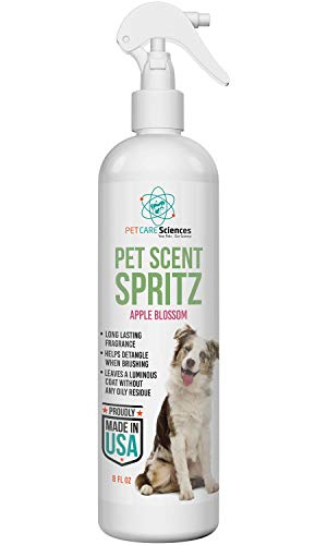 PET CARE Sciences Pet Scent Spritz, Dog Freshening Spray, Clean Apple Blossom Fragrance, Long Lasting Dog Cologne, Daily Dog Deodorizer 8 fl oz, Made in The USA