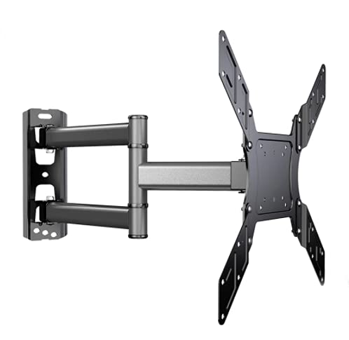 WMYDYBD Soporte de inclinación giratoria de Montaje en Pared de TV para 26-50'Monitor de Pantalla Plana LED VESA 400x400 con Movimiento de extensión de articulación de Movimiento Completo