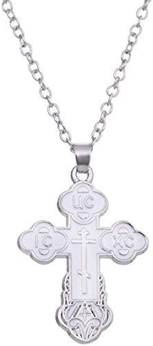 N-G Cruz de la Iglesia ortodoxa Oriental, Amuleto religioso Sobrenatural, talismán, Esmalte Ruso eslavo, Collar Cristiano de Dios Jesús