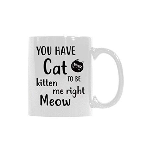 Husband Wife Girlfriend Sturdy Mug 11 Oz I Love Meow Coffee Mug Valentines Gift for Cat Lovers Mom White Birthday Gift for Him//Her Xmas Present for Cat Owners Dad Daughter Son Boyfriend