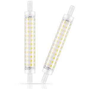 2 Pcs Bombillas R7S LED 118MM, AGPTEK R7S LED con 96 * 2835 SMD 10W 1000LM 3000K, Blanco Cálido [Clase de eficiencia energética A+]